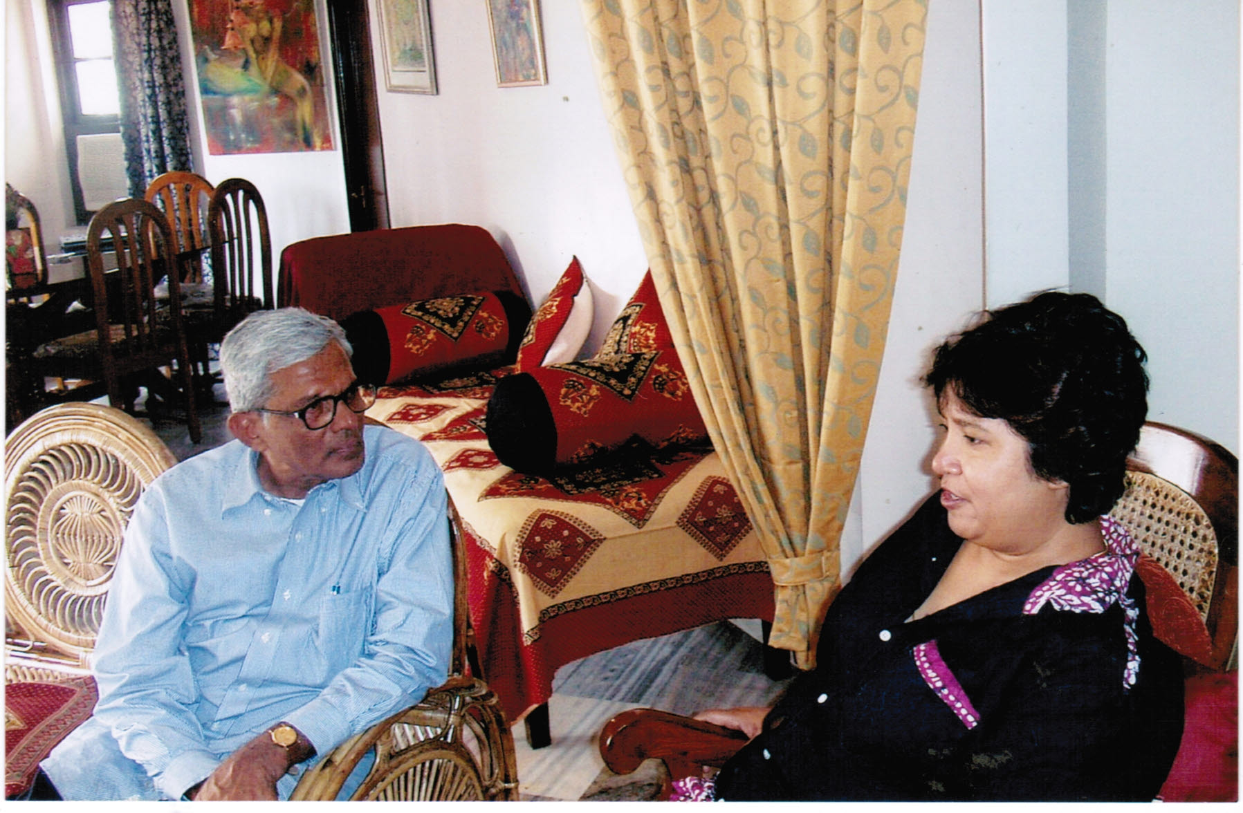 Innaiah discussing with Taslima