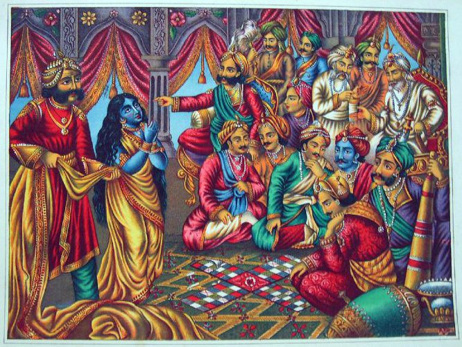 Draupadi_s_presented_to_a_parcheesi_game