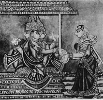 213px-Lord_Brahma_and_Adhiti_-_19th_Century_Illustration