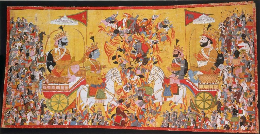 Arjuna_and_His_Charioteer_Krishna_Confront_Karna
