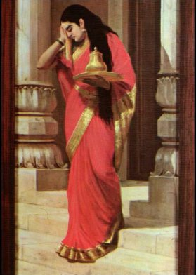 ravi_varma-draupadi_carrying_milk_honey1