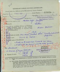S.S.L.C. Certificate